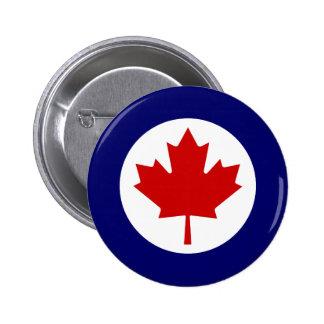 Canadiense Roundel Pin Redondo De 2 Pulgadas