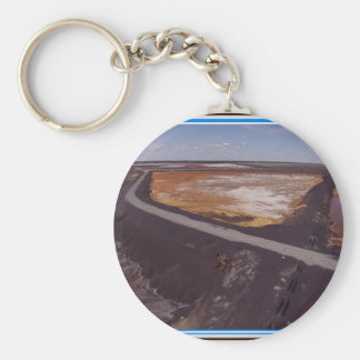 Canadiian Landscape of Polluted Mining Disaster 99 Basic Round Button Keychain
