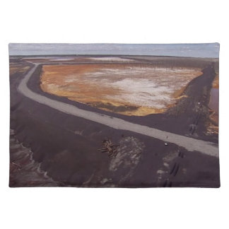 Canadiian Landscape of Polluted Mining Disaster 99 Cloth Placemat