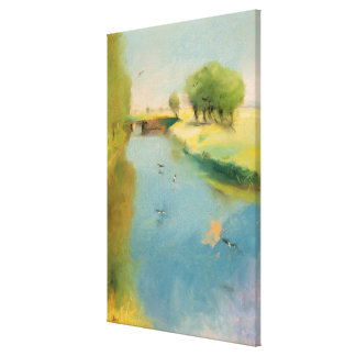 Canal, 1897 (pastel on canvas) canvas print