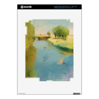 Canal, 1897 (pastel on canvas) decal for iPad 3