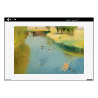 Canal, 1897 (pastel on canvas) decals for laptops