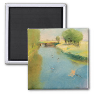 Canal, 1897 (pastel on canvas) magnet
