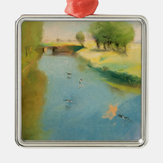 Canal, 1897 (pastel on canvas) metal ornament