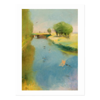 Canal, 1897 (pastel on canvas) postcard