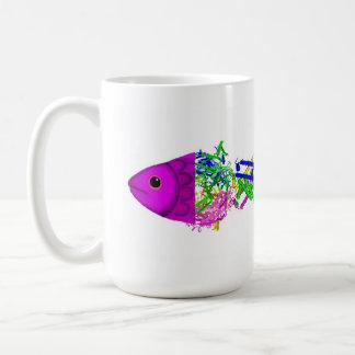 Canal a pescado del potasio taza básica blanca