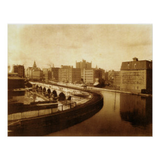 Canal Aqueduct Over Genesee River  1910 Poster