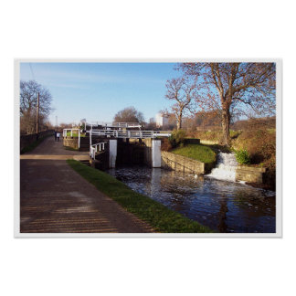 Canal at Bingley Posters