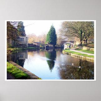 Canal at Bingley Print