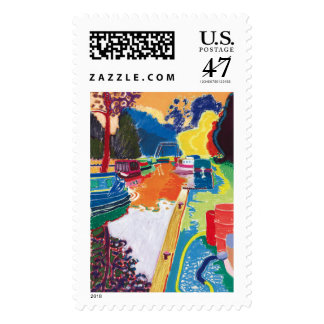 Canal at Dundas Postage Stamp