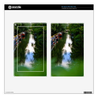 Canal at Kintbury Decal For Kindle Fire