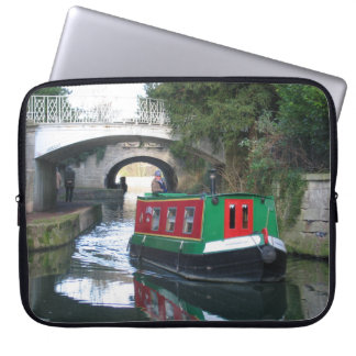 Canal boat Bath Laptop Sleeves