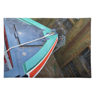 Canal Boat In Lock Cloth Placemat