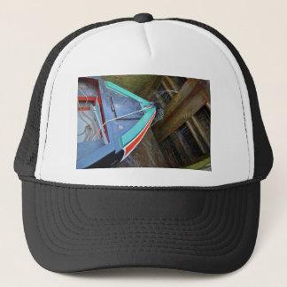 Canal Boat In Lock Trucker Hat