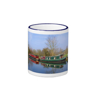 Canal boats at rest coffee mugs