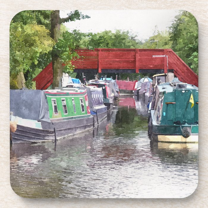 CANAL BOATS DRINK COASTER
