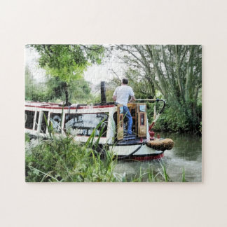 CANAL BOATS JIGSAW PUZZLE