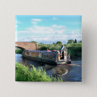 CANAL BOATS PINBACK BUTTON
