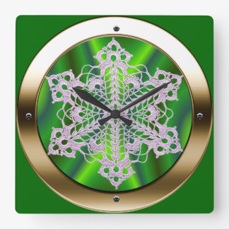 Canal Boat's Port Hole Decoration Square Wall Clock