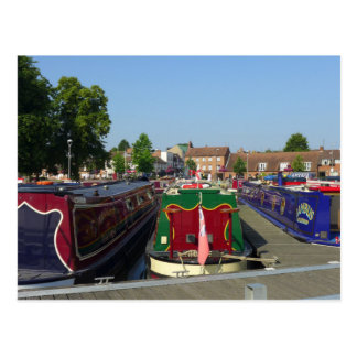 Canal Boats, River Avon, Stratford-upon-Avon Postcard