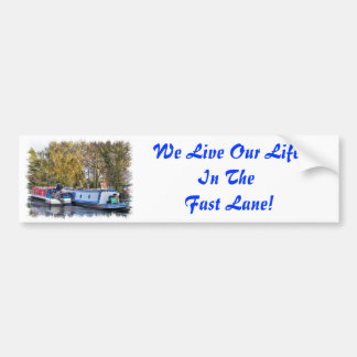 CANAL BOATS UK BUMPER STICKERS