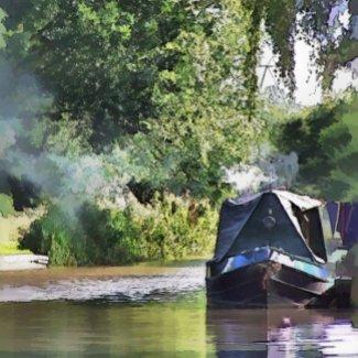CANAL BOATS UK zazzle_card