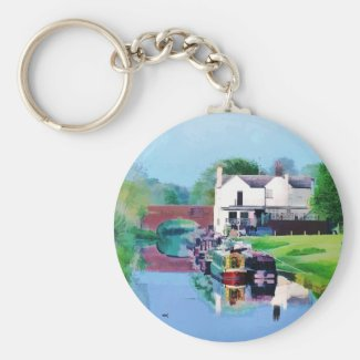 CANAL BOATS UK KEYCHAIN