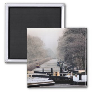 CANAL BOATS UK zazzle_magnet