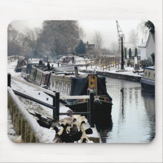 CANAL BOATS UK MOUSE PADS