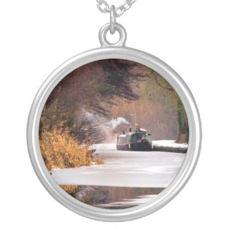 CANAL BOATS UK zazzle_necklace