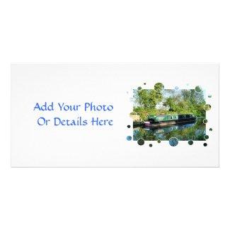 CANAL BOATS UK zazzle_photocard