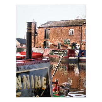 CANAL BOATS UK PHOTO PRINT