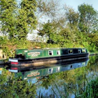 CANAL BOATS UK zazzle_sticker