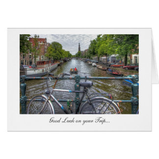 Canal Bridge View - Good Luck on Your Trip Greeting Card