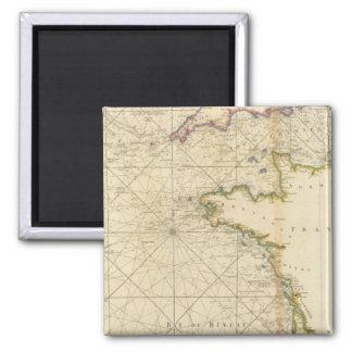 Canal británico, el Golfo de Biscaya Imán Cuadrado