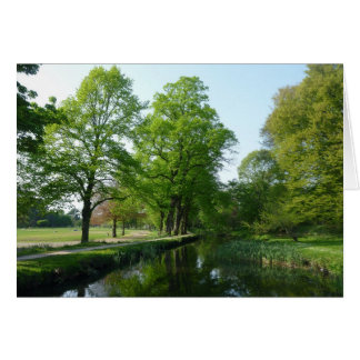Canal - Bute Park, Cardiff Greeting Card