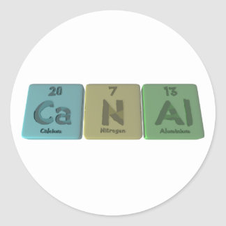 Canal-Ca-N-Al-Calcium-Nitrogen-Aluminium.png Classic Round Sticker
