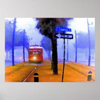 Canal-Cementerios, tranvía en mañana de niebla, Impresiones