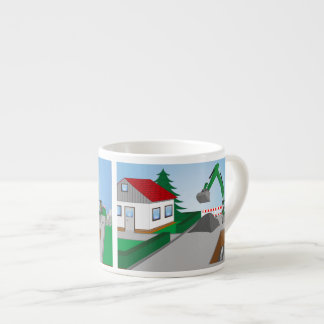 Canal construction place espresso cup