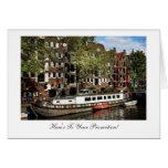 Canal de Amsterdam, enhorabuena en su promoción Felicitacion