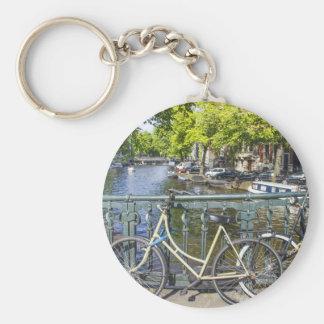 Canal de Amsterdam Llavero Redondo Tipo Pin