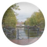 Canal de Amsterdam Platos Para Fiestas