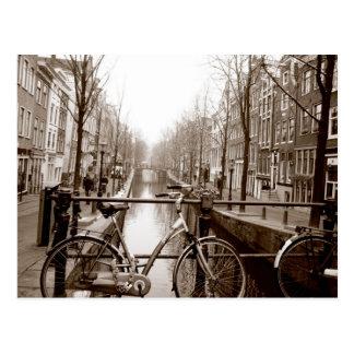 Canal de Amsterdam Postal