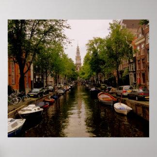 Canal de Amsterdam Póster
