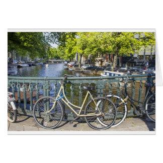 Canal de Amsterdam Tarjeta De Felicitación