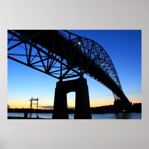 Canal de Cape Cod del puente de Bourne Posters