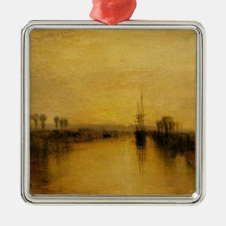 Canal de Chichester, c.1829 Adorno Cuadrado Plateado