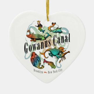 Canal de Gowanus de Brooklyn, NY Adorno De Cerámica En Forma De Corazón