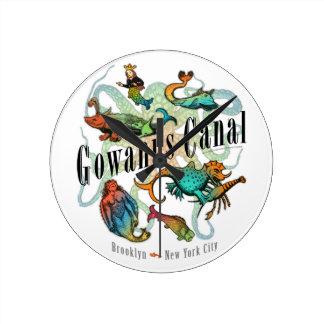 Canal de Gowanus de Brooklyn, NY Reloj De Pared