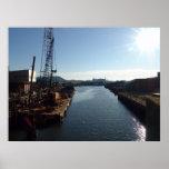 """""""Canal de Gowanus/puerto de Nueva York """" Poster"""